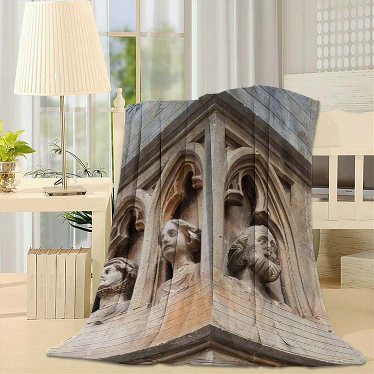 14Th Century Gothic St Elisabeth Church - Landmarks and Monuments Fleece Blanket