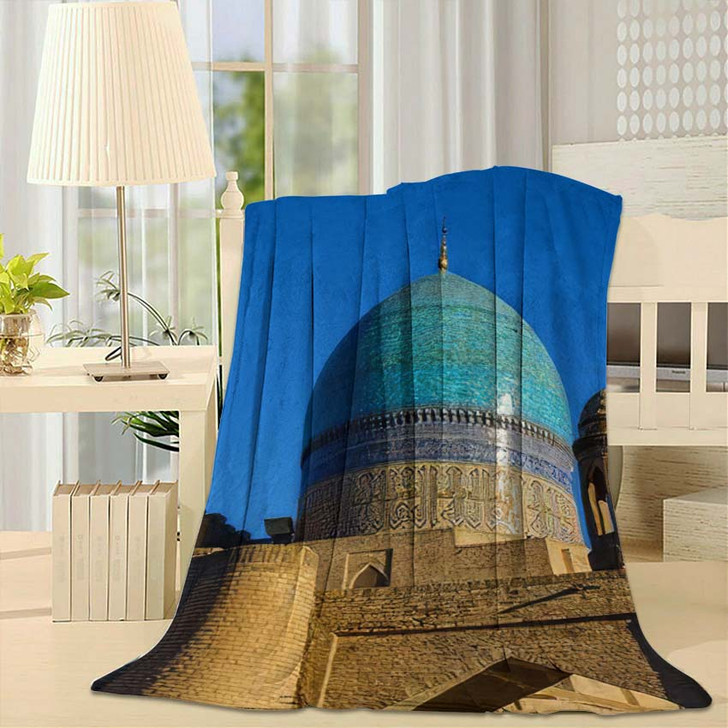 16Th Century Majolica Dome Mir Arab - Landmarks and Monuments Fleece Blanket