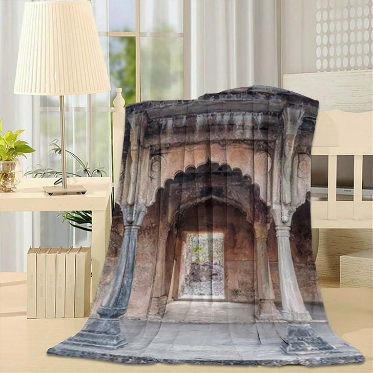 500 Years Old Beautiful Indian Fort - Landmarks and Monuments Fleece Blanket