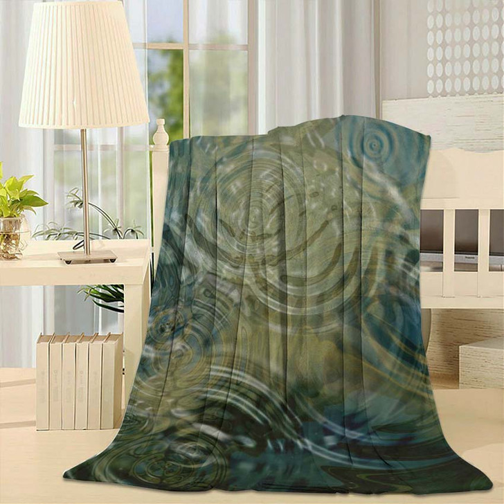 A Beautiful Close Up Of Ripples On A Pond - Abstract Fleece Blanket