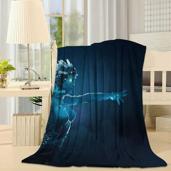3D Illustration Render Stone Girl Glowing - Fantasy Fleece Blanket