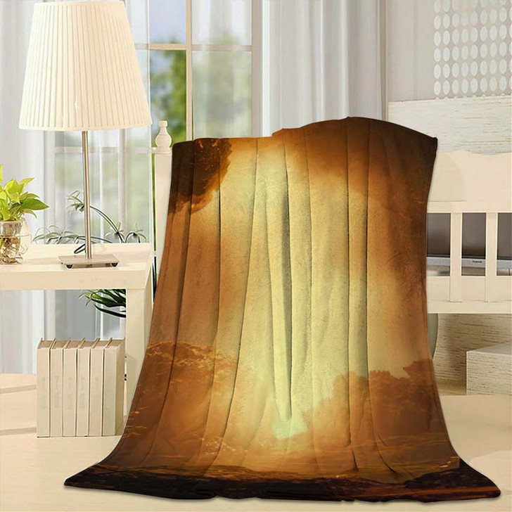 3D Landscape Illustration Where We Observe - Fantasy Fleece Blanket
