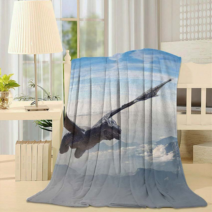 3D Illustration Dragon Fly Render - Dragon Animals Fleece Blanket