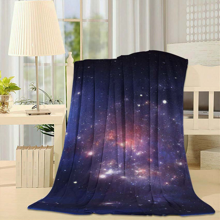 360 Degree Space Nebula Panorama Equirectangular - Sky and Space Fleece Blanket