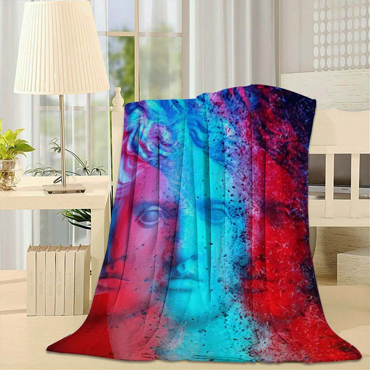 3D Anaglyph Effect Racial Discrimination Trinitas - Abstract Art Fleece Blanket