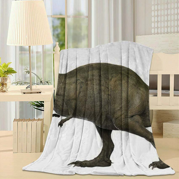 3D Rendered Trex Tyrannosaurus Rex 13 - Godzilla Animals Fleece Blanket