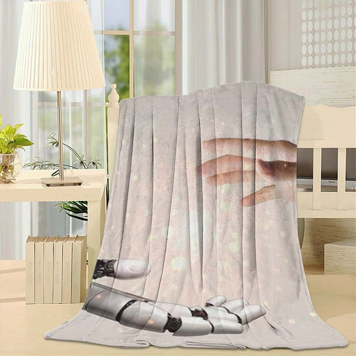 3D Rendering Artificial Intelligence Ai Research 6 - Creation of Adam Fleece Blanket