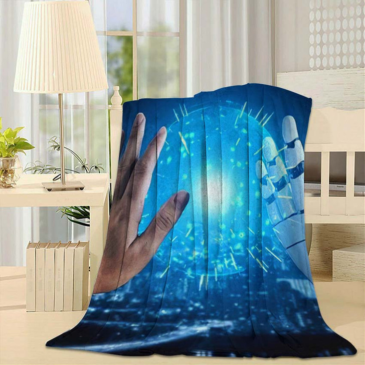 3D Rendering Artificial Intelligence Ai Research 9 - Creation of Adam Fleece Blanket