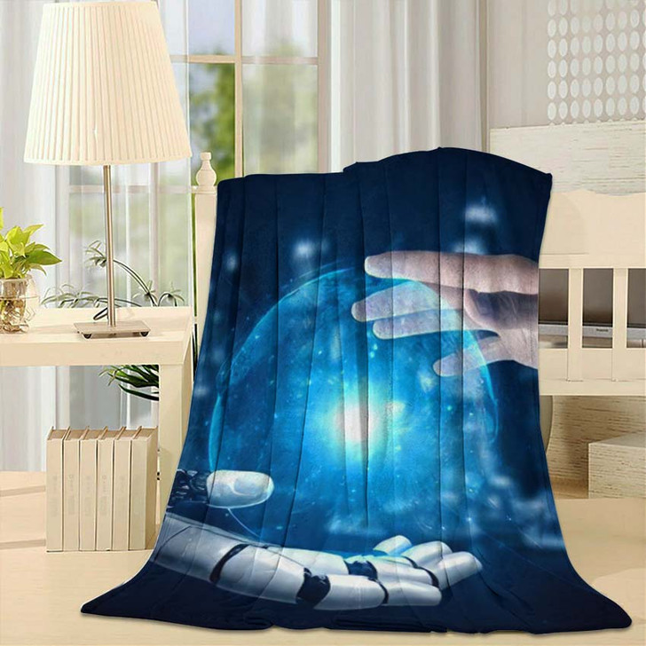 3D Rendering Artificial Intelligence Ai Research 18 - Creation of Adam Fleece Blanket