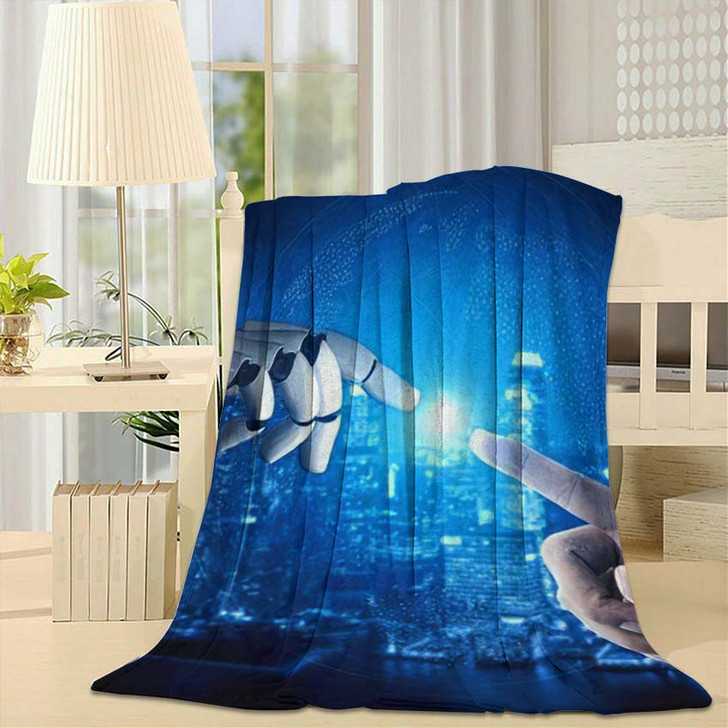 3D Rendering Artificial Intelligence Ai Research 38 - Creation of Adam Fleece Blanket