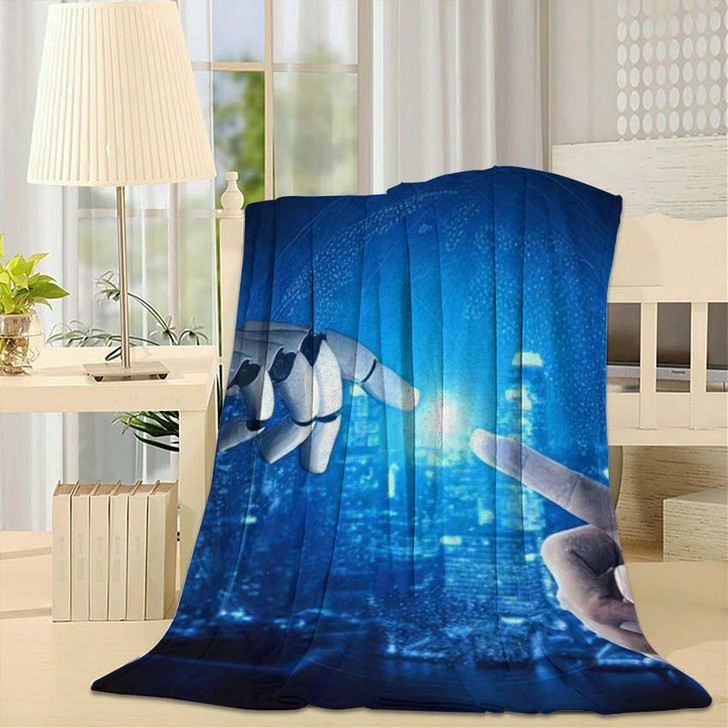 3D Rendering Artificial Intelligence Ai Research 39 - Creation of Adam Fleece Blanket