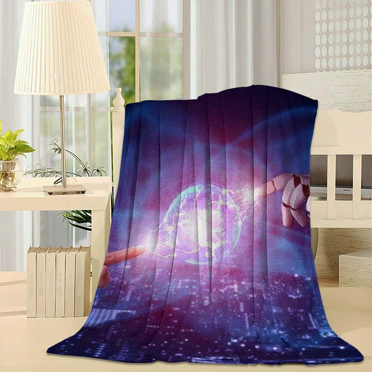 3D Rendering Artificial Intelligence Ai Research 46 - Creation of Adam Fleece Blanket