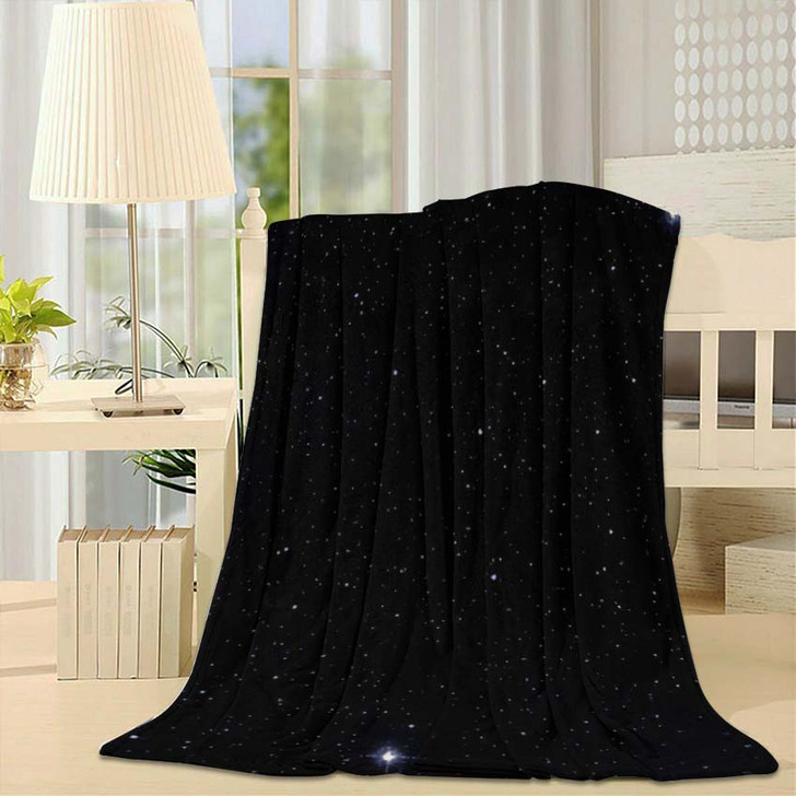 2D Illustration Deep Vast Space Stars 1 - Galaxy Sky and Space Fleece Blanket