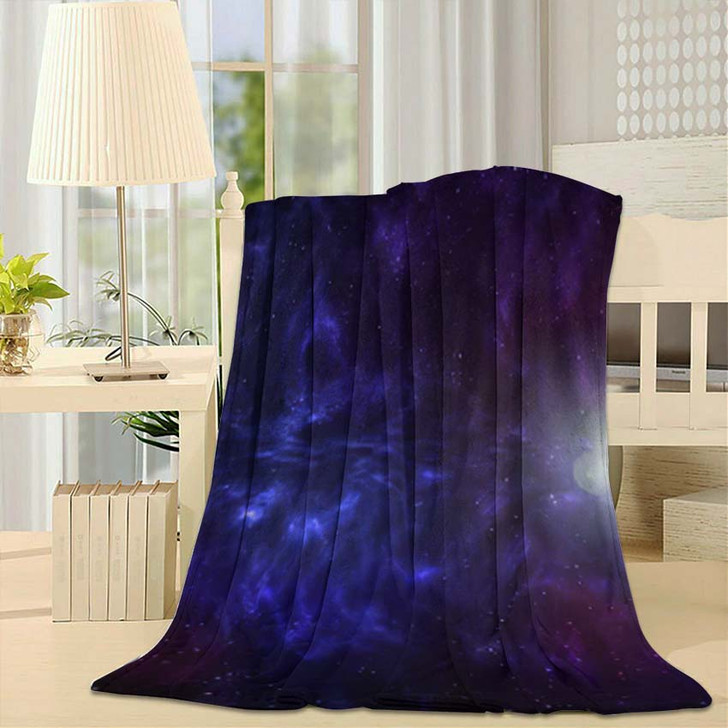 3D Illustration Planets Galaxy Science Fiction 10 - Galaxy Sky and Space Fleece Blanket