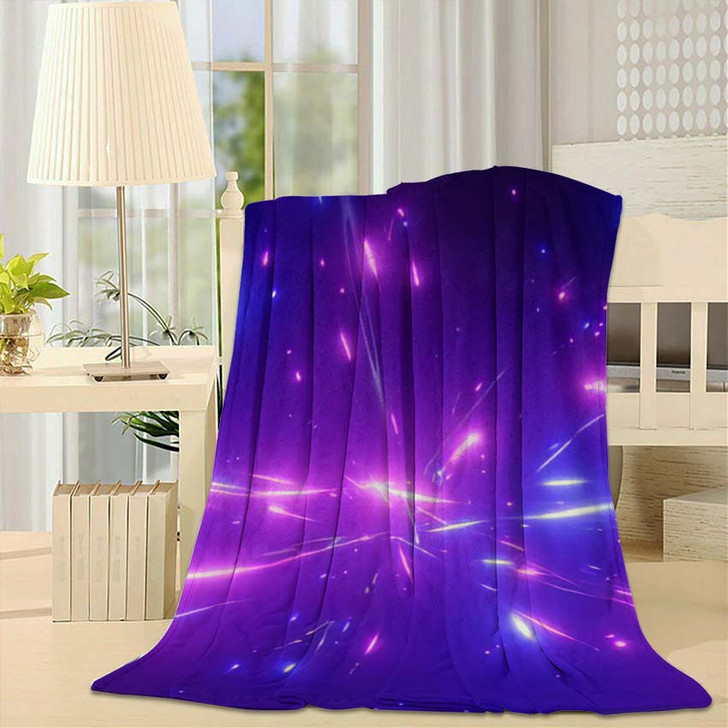 3D Rendering Fantastic Background Bright Glowing - Galaxy Sky and Space Fleece Blanket