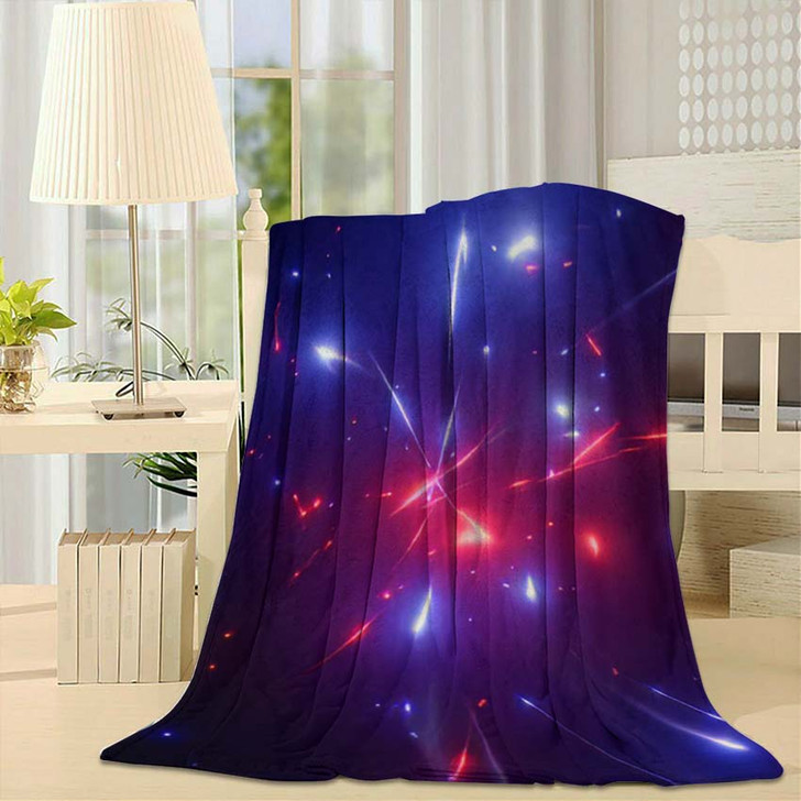 3D Rendering Fantastic Background Bright Glowing 1 - Galaxy Sky and Space Fleece Blanket