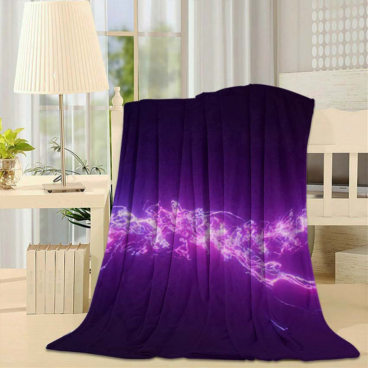 3D Rendering Fantastic Background Bright Glowing 2 - Galaxy Sky and Space Fleece Blanket