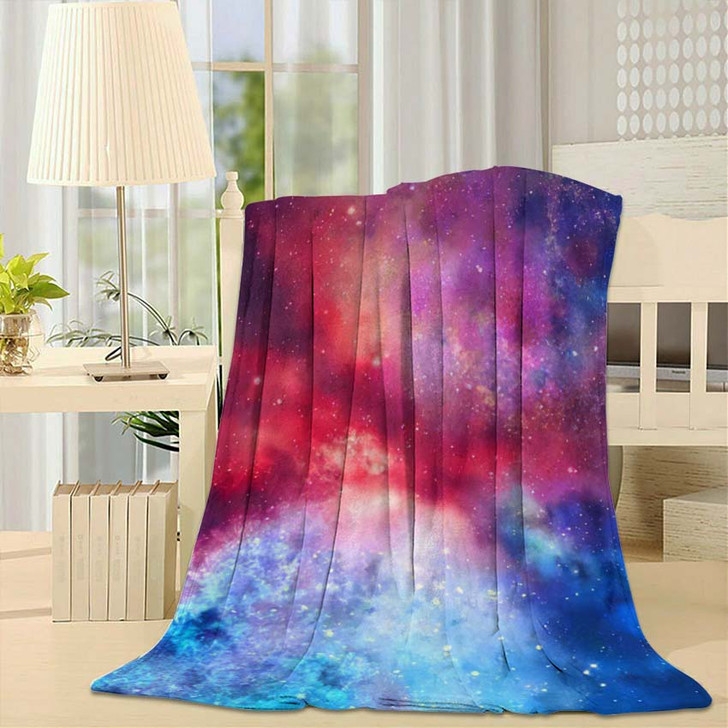 3D Rendering Galaxy Space Beauty Universe 1 - Galaxy Sky and Space Fleece Blanket
