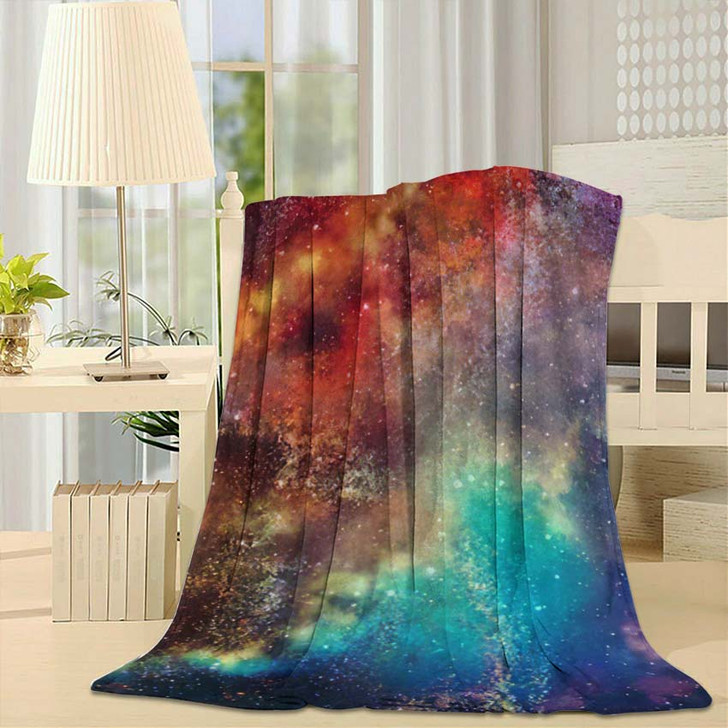 3D Rendering Galaxy Space Beauty Universe 2 - Galaxy Sky and Space Fleece Blanket