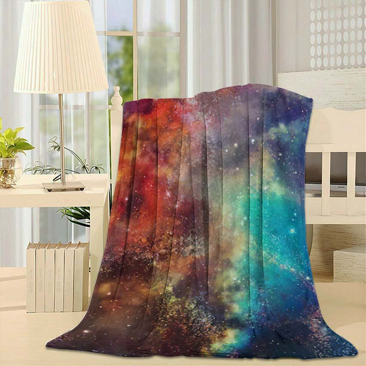 3D Rendering Galaxy Space Beauty Universe 3 - Galaxy Sky and Space Fleece Blanket