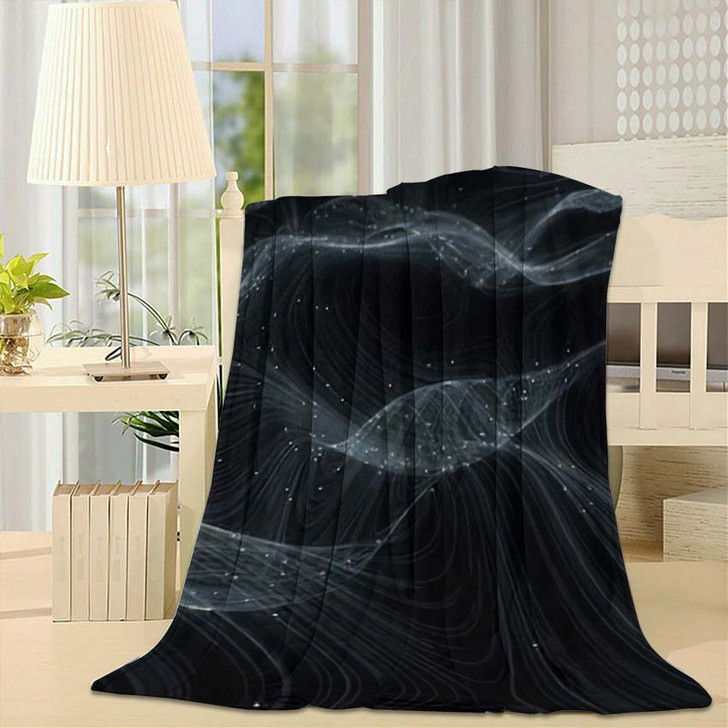 3D Topographic Map Background Concept Topo - Galaxy Sky and Space Fleece Blanket