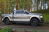 BMF 20X9 Roulettes on Dodge Ram 3500.  Stock ride height with 305/55R20 Falken Wildpeaks.