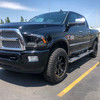 BMF 20x9 Roulettes on 2014 Dodge Ram 3500. Stock ride height with 275/65R20 Goodyear Wranglers.