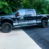"""BMF 20x10 Roulettes on 2015 Ford F250. 2.5"""" Leveling Kit with 33"""" Mastercraft Courser MXTs."""