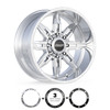 BMF Wheels Roulette truck wheels in polished finish for Ford, Chevy, GMC, and Ram Trucks and SUVs.