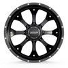 6 Lug BMF Payback Signature Series Black and Milled Trucks Wheels for Ford, Chevy, Ram, and Toyota Trucks and SUVs.