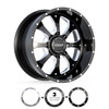 5 Lug BMF Payback Black and Milled Trucks Wheels for RAM Trucks and Jeep Wranglers.