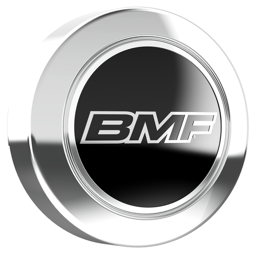 Chrome center cap for 8 Lug BMF Wheels.