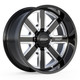 8 Lug BMF Hustle Truck Wheels for Ford, Chevy, GMC, and Ram Trucks and SUVs. Shown in the BMF Signature Black Milled Finish.