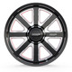 Limited Edition BMF Hustle-R Truck Wheel for 6 lug Ford, Chevy, GMC, and Ram Trucks and SUVs. The Hustle-R features the BMF signature black and milled finish with red accents in the windows.