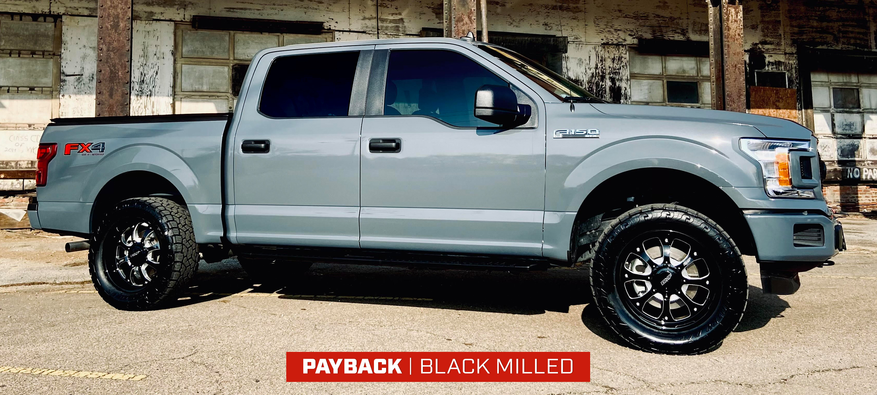 Ford F150 with 20X10 BMF Black Milled Paybacks