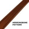 Summit Leather Belt - Herringbone