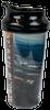 plastic drinking tumbler with black lid, panoramic view of Summit during Jamboree around body, and Summit logo across bottom.