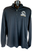 black long sleeve 1/4 zip pullover with small bear/paw logo in right chest corner (gray paw and summit lettering, and black bear)