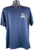 navy blue performance short sleeve tee with bear/paw logo in right chest corner (light gray paw and Summit wording, black bear)