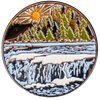 Back of SBR Commemorative Coin with Mountain River Scene