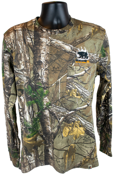 Camouflage Long Sleeve shirt with Embroidered SBR logo on Left Chest