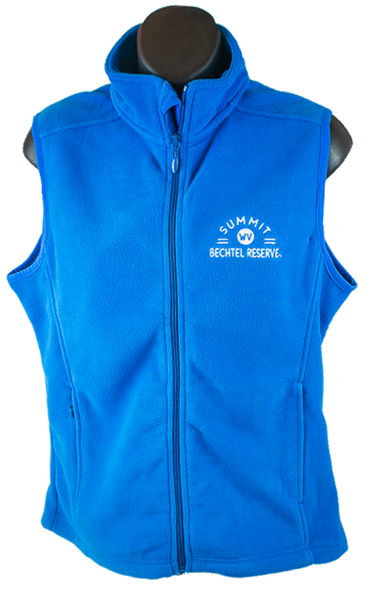 Ladies Microfleece Vest - Bright Blue