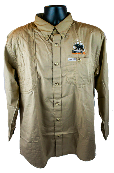 Khaki Long Sleeve Hunting Shirt