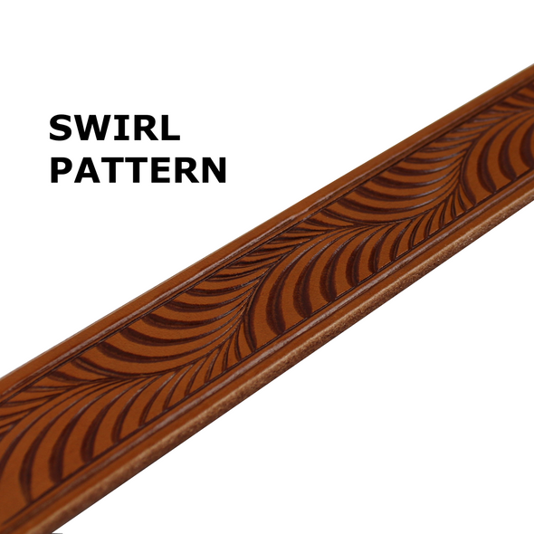 Summit Leather Belt - Swirl