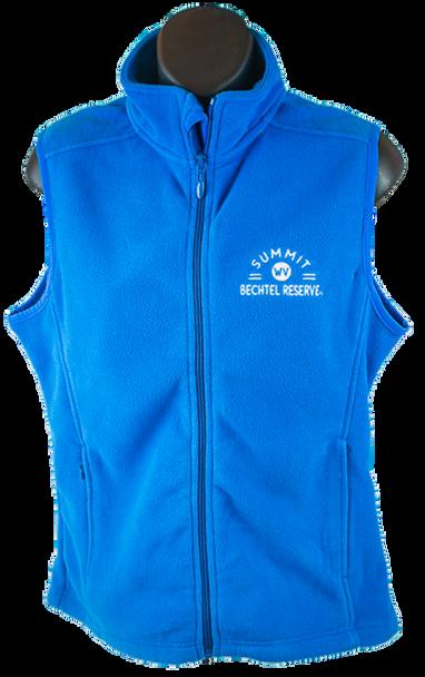 Ladies Microfleece Vest - Bright Blue