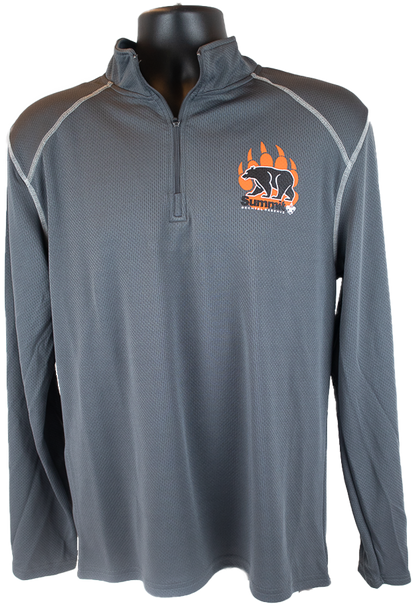 Gray Mesh 1/4 Zip Pullover with Summit Logo