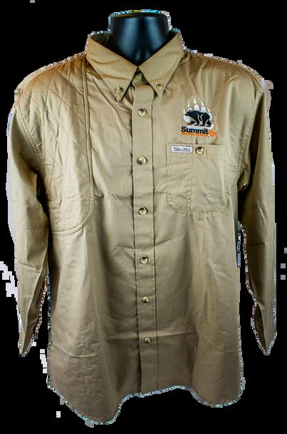 Khaki Long Sleeve Hunting Shirt
