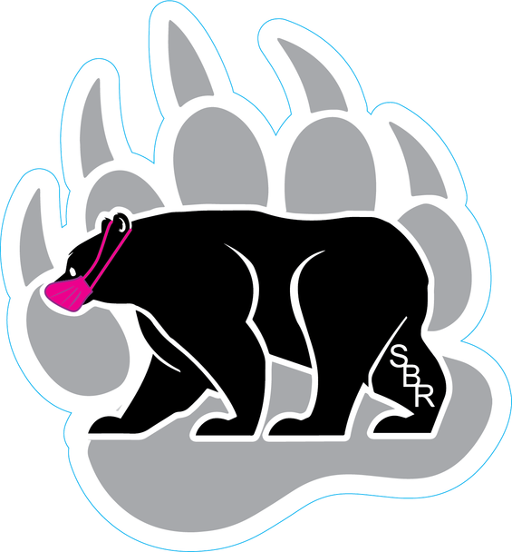 Masked Bear/Paw Sticker