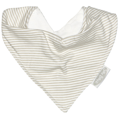 Bandanas are the ideal bib for teething or dribbly babies as the waterproof membrane keeps skin dry and the jersey cotton outer is beautifully soft on baby's delicate skin.