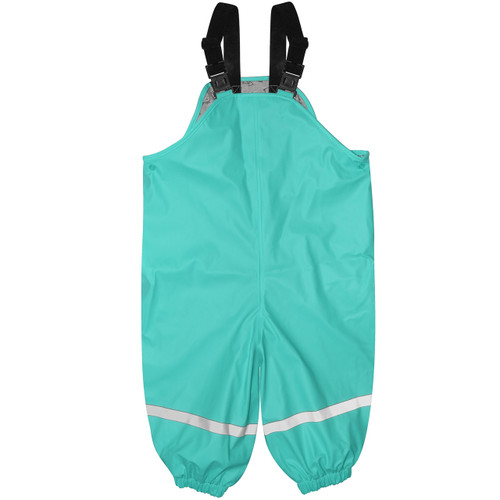 THE ULTIMATE PUDDLE JUMPING ITEM! - Elastic shoulder straps with clip lock closures makes it super easy to put overalls on or off. - Reflective striping for added visibility and safety. - Signature Rabbit Print polycotton lining.